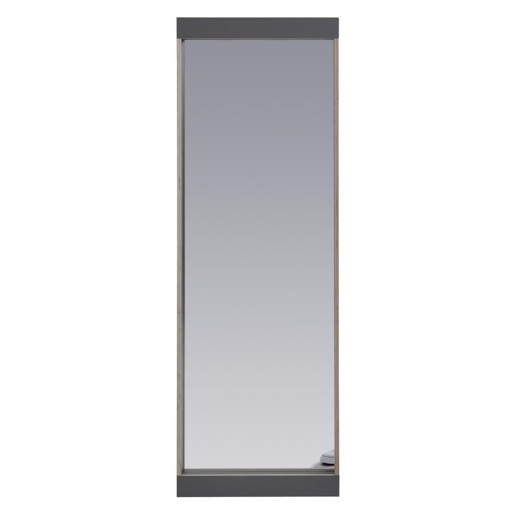 FLAI Spiegel 180 x 61 cm, anthrazit mit Holzkante Multiplex