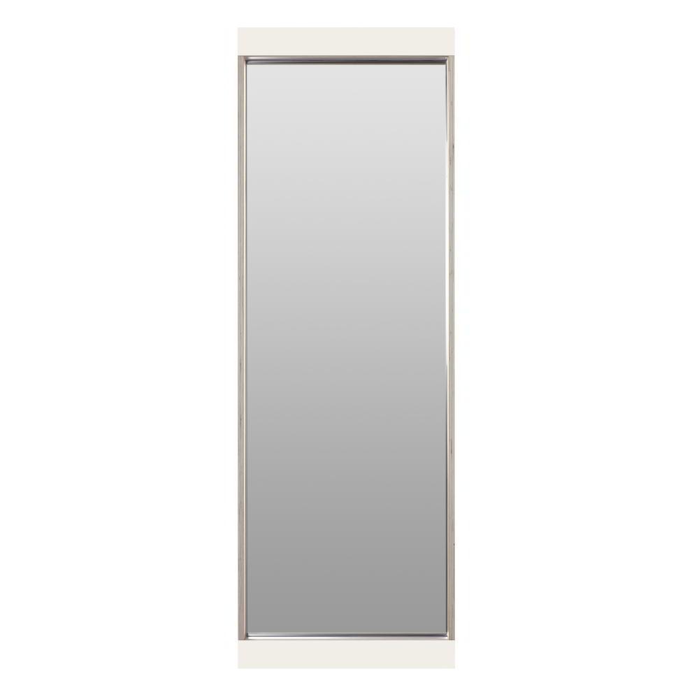 FLAI Spiegel 180 x 61 cm, weiß mit Holzkante Multiplex