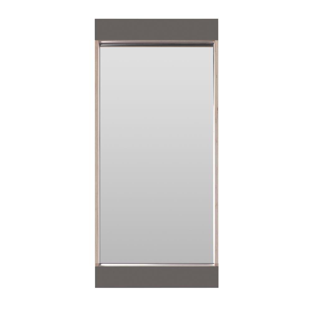 FLAI Spiegel 90 x 40 cm, anthrazit mit Holzkante Multiplex
