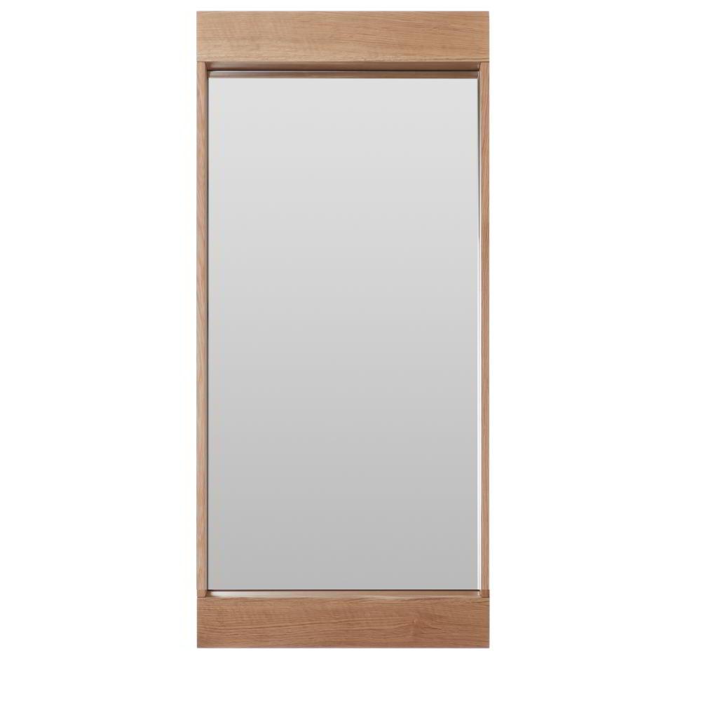FLAI Spiegel 90 x 40 cm, Eiche natur