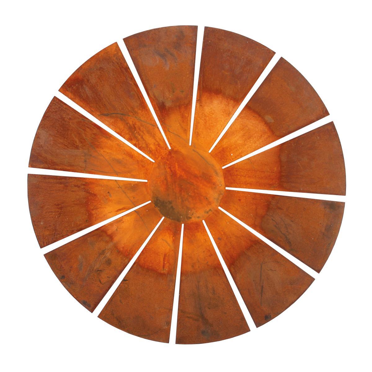 SOLIX Feuerschale Stahl müllernkontor, von oben gesehen