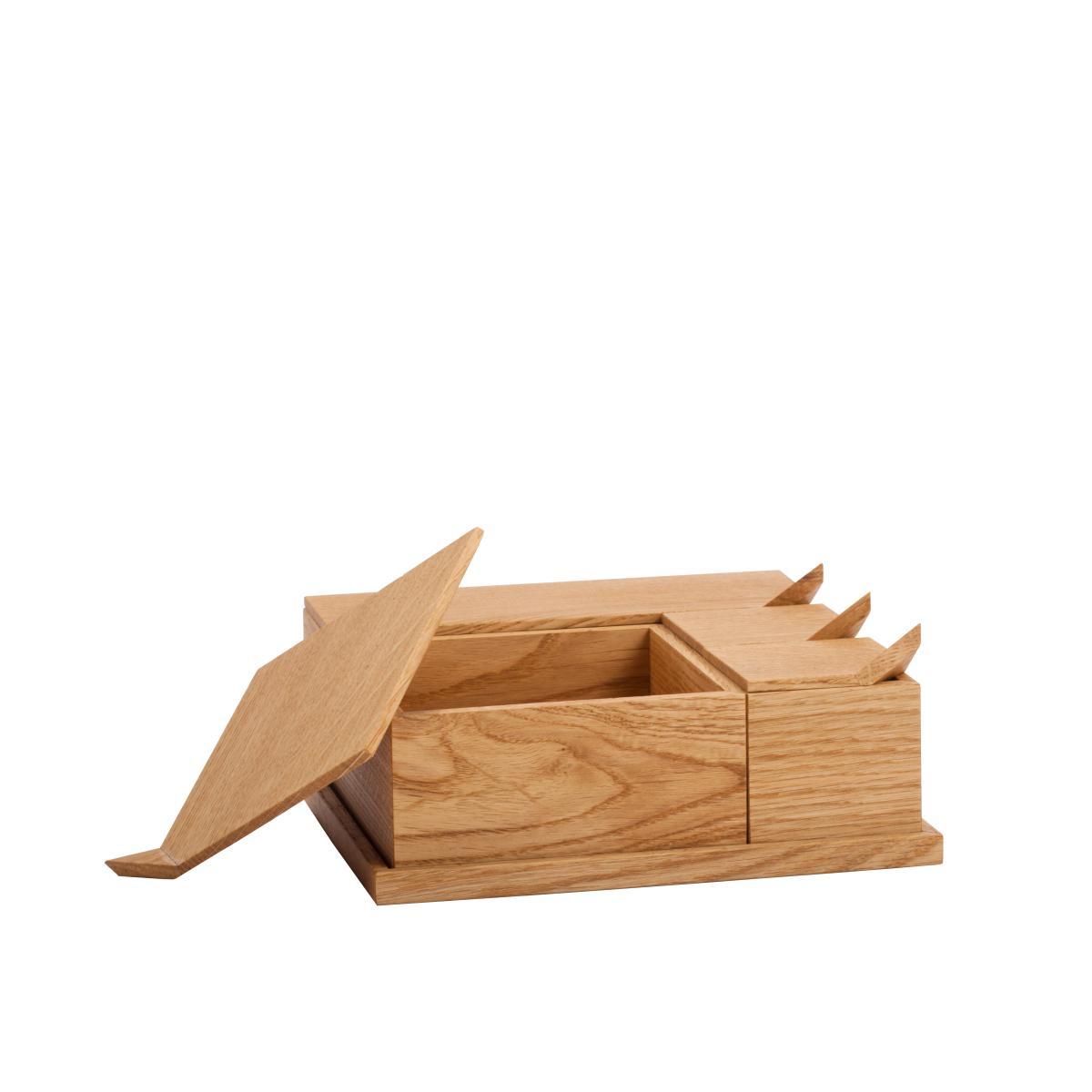 BöBoxenSet Aufbewahrungsdosen Eiche, mit Deckel, geöffnet