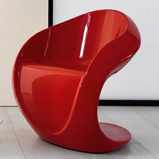 MISS PETRA Stuhl hochglanzlackiert rot