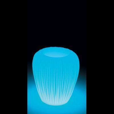 SKIN POT H 60 cm, beleuchteter BlumenTopf, LED-Akku Outdoor