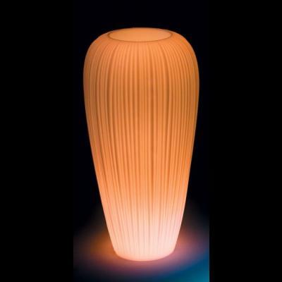 SKIN POT H 120 cm, beleuchteter BlumenTopf, LED-Akku Outdoor