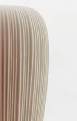 SKIN POT beleuchtetes Pflanzgefäß Detail Faltenwurf
