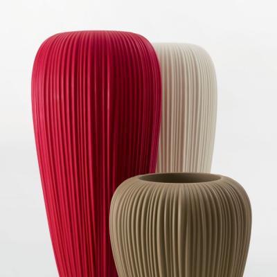 SKIN POT beleuchtetes Pflanzgefäß farbig, eleganter Faltenwurf