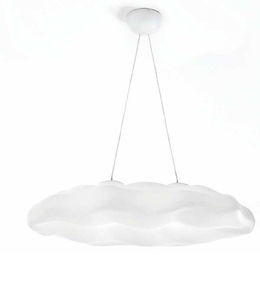 NEFOS Pendelleuchte Wolke, klein, 120 cm breit, weiß