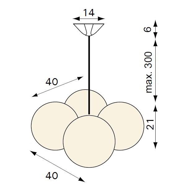 MOLECULAR Pendelleuchte ML-4, Details