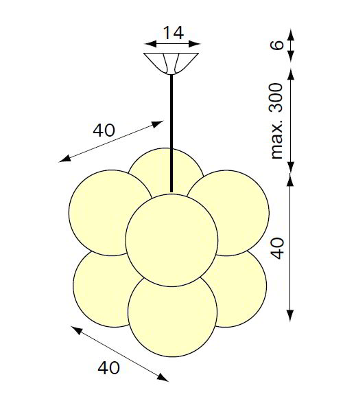 MOLECULAR Pendelleuchte ML-8, Details