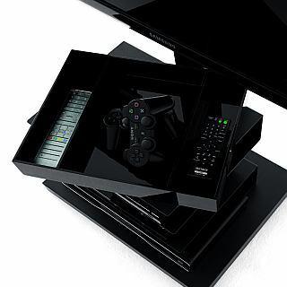 zusätzliches Tablett schwarz für PTOLOMEO TV Regal Light