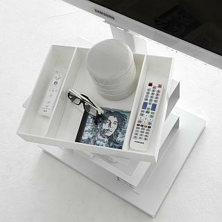 zusätzliches Tablett weiß für PTOLOMEO TV Regal Light