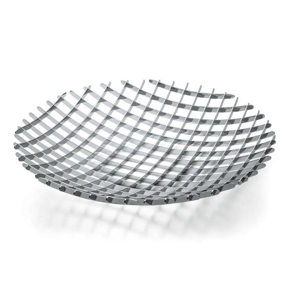 Grid Fruchtschale XL 50 cm Edelstahl hochglanzpoliert
