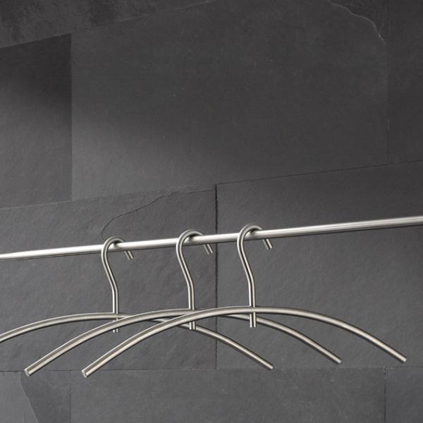 KB1 Kleiderbügel Edelstahl, Haken 360 Grad drehbar