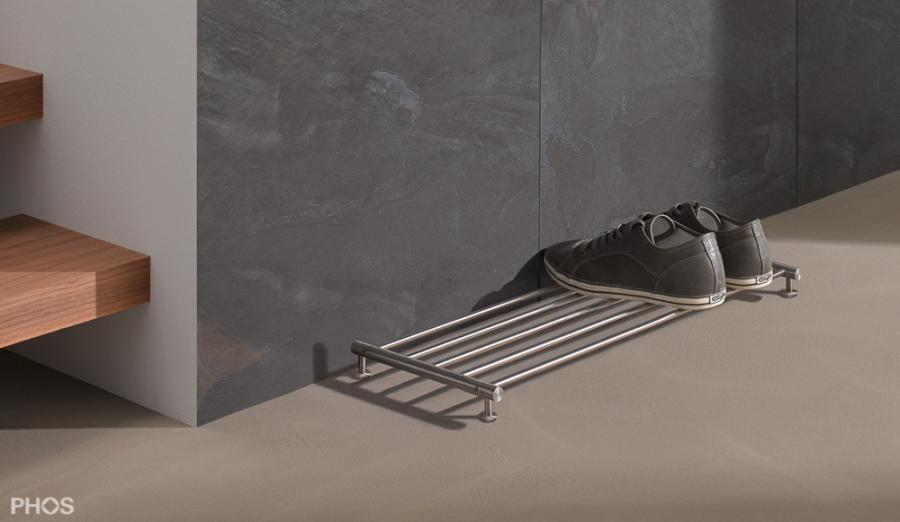 GSR600-Schuhablage aus massiven Edelstahlstäben