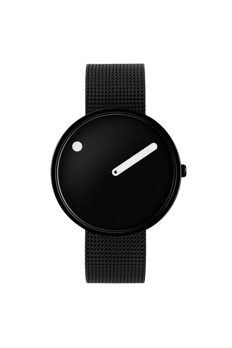 Picto Armbanduhr Ø 40 mm schwarz-IP schwarz 43361