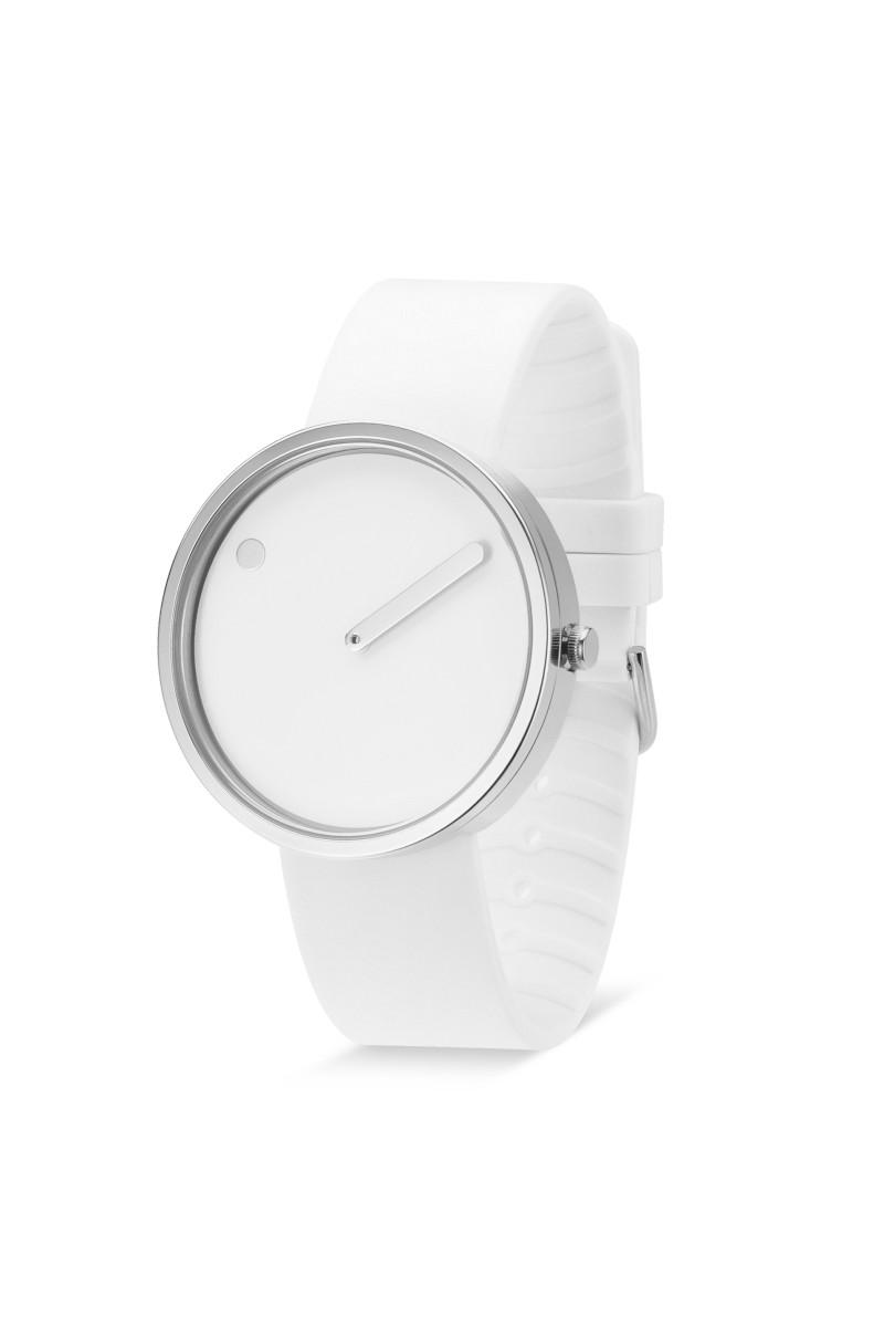 Picto Armbanduhr Ø 40 mm weiß-edelstahl 43364