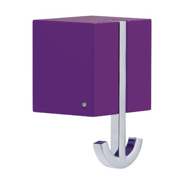 ANCORA Wandgarderobe mit Klapphaken, violett lackiert