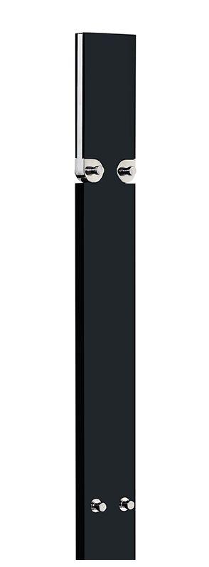 ONTARIO Standgarderobe schwarz, Detail oben