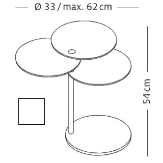 MOLINO Beistelltisch technische Details