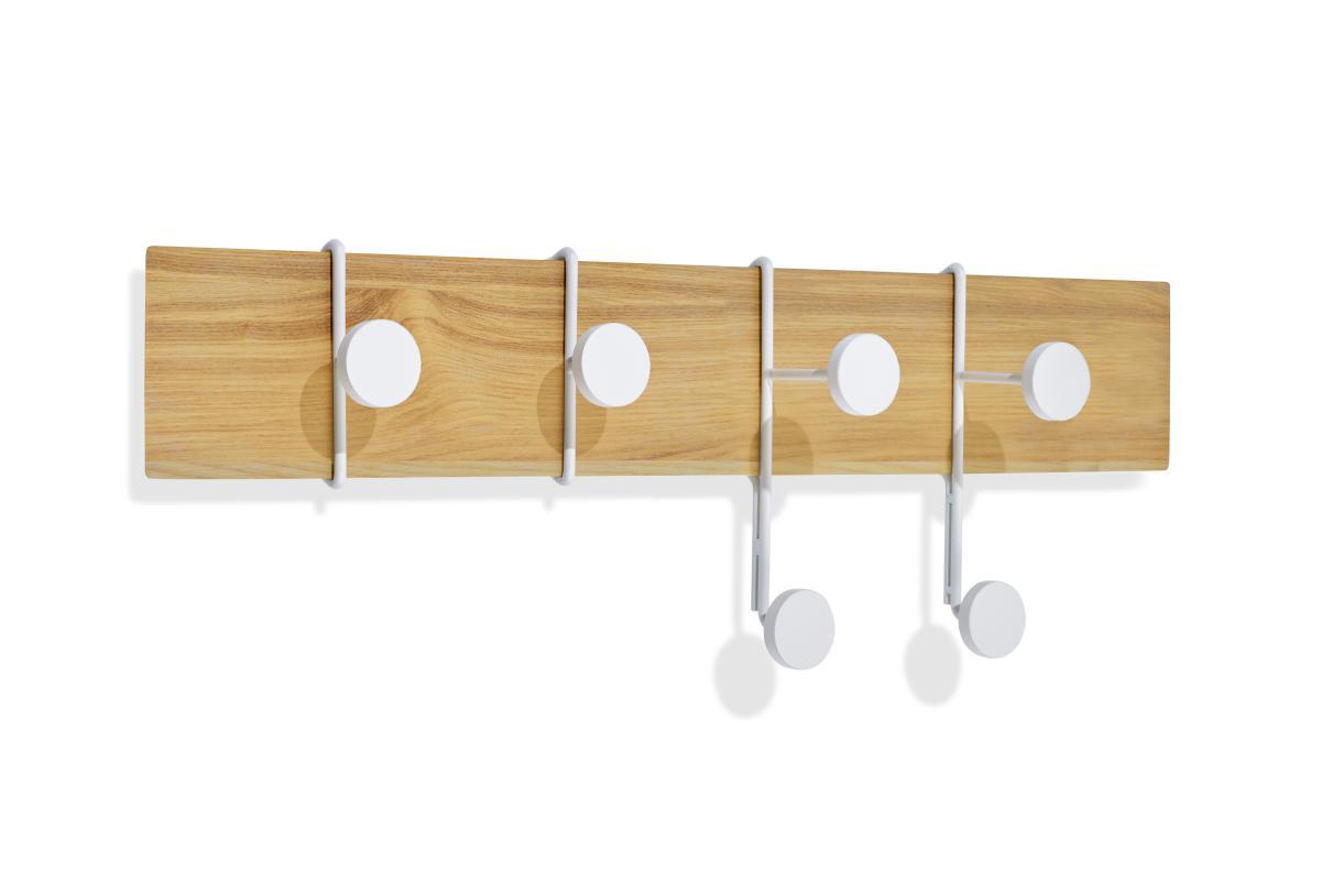 STROKES und DOTS Garderobenleiste 57 cm Esche/weiß