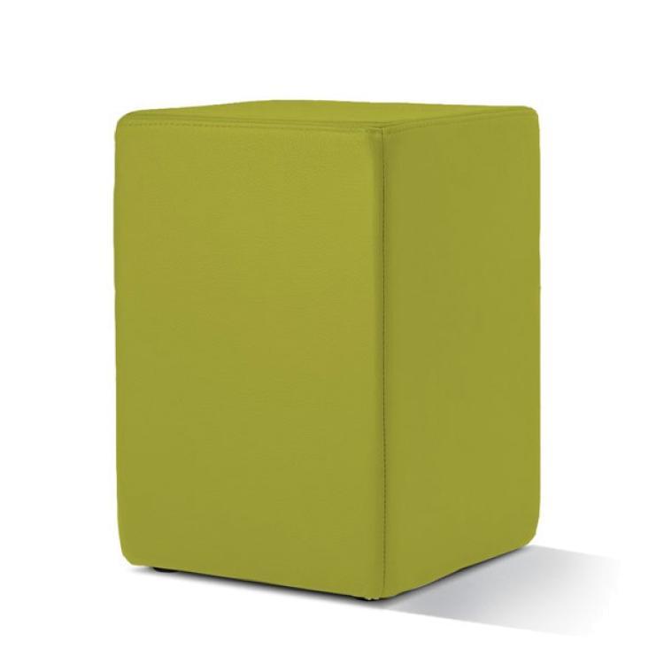POMP Sitzhocker Leder verde