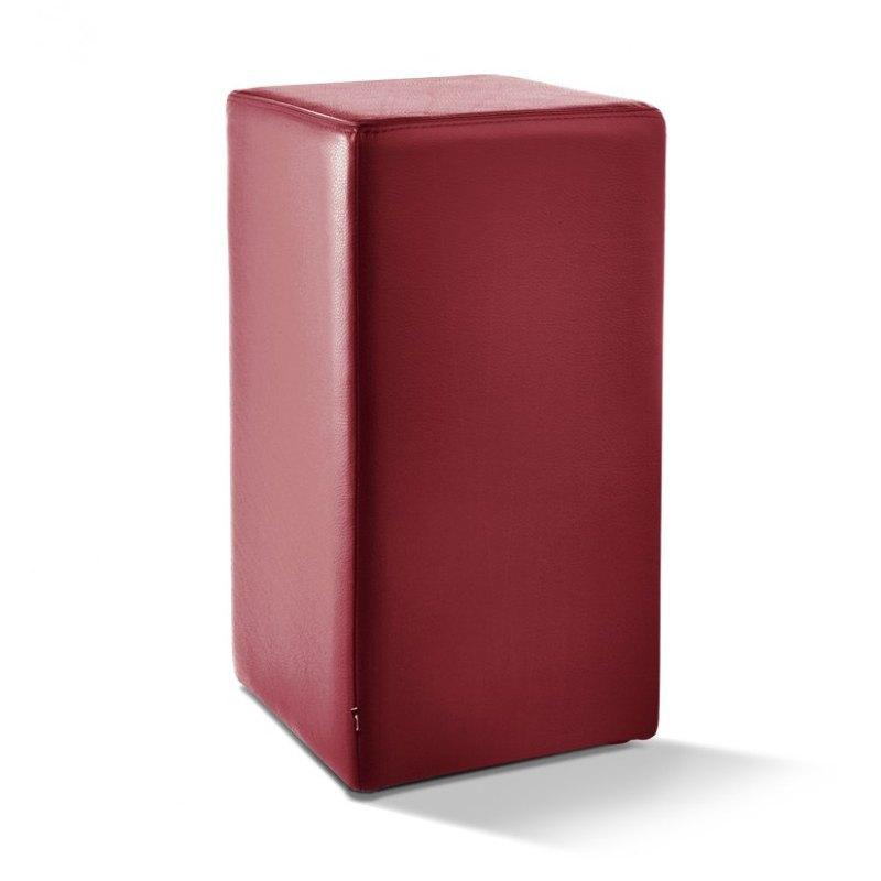 POMP Tresenhocker Höhe 65 cm Echtleder bordeaux-rot