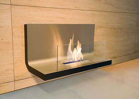 Wall Flame Biokamin - Edelstahl