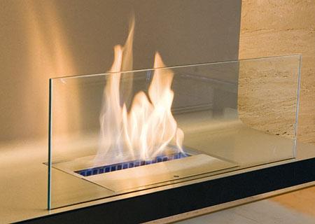 Wall Flame Biokamin - Detailansicht
