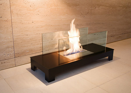 Floor Flame Biokamin schwarz/schwarz