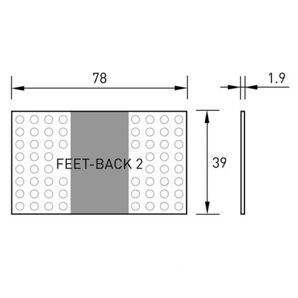 Übersicht Fußmatte feet-back II
