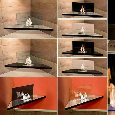 corner flame biokamin von radius design bei. Black Bedroom Furniture Sets. Home Design Ideas