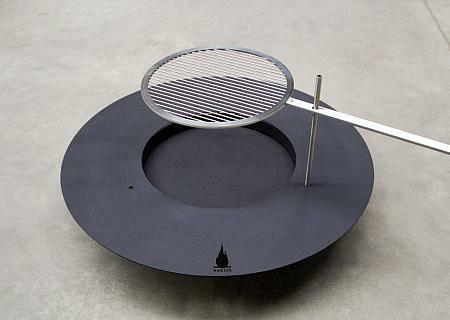 Feuerstelle fireplate Ø 100 cm 531C Stahl schwarz