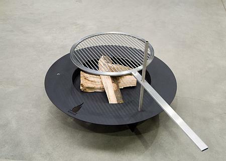 Feuerstelle fireplate Ø 75 cm 531D Stahl schwarz