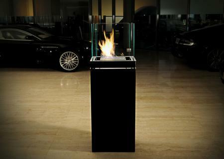 HIGH FLAME Standkamin / Ethanolkamin schwarz