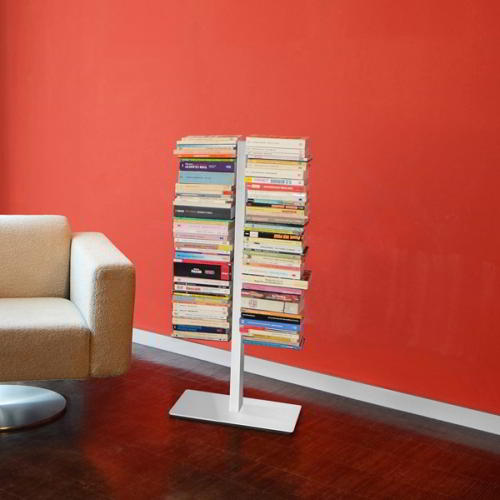 BOOKSBAUM Bücherregal Standregal 90 cm, silber