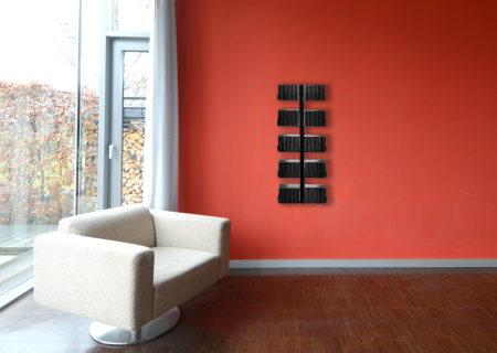 CD-BAUM CD-Regal Wand 1 klein/breit schwarz