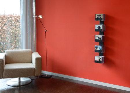 CD-BAUM CD-Regal Wand 2 klein/schmal schwarz