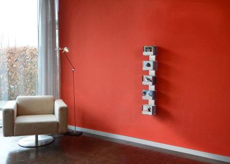 CD-BAUM CD-Regal Wand 2 klein/schmal weiß