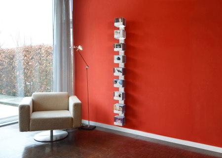 CD-BAUM CD-Regal Wand 2 gross/schmal weiß