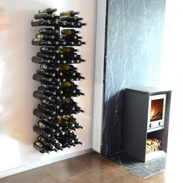 WINE TREE Weinregal Wandregal 170 cm, schwarz