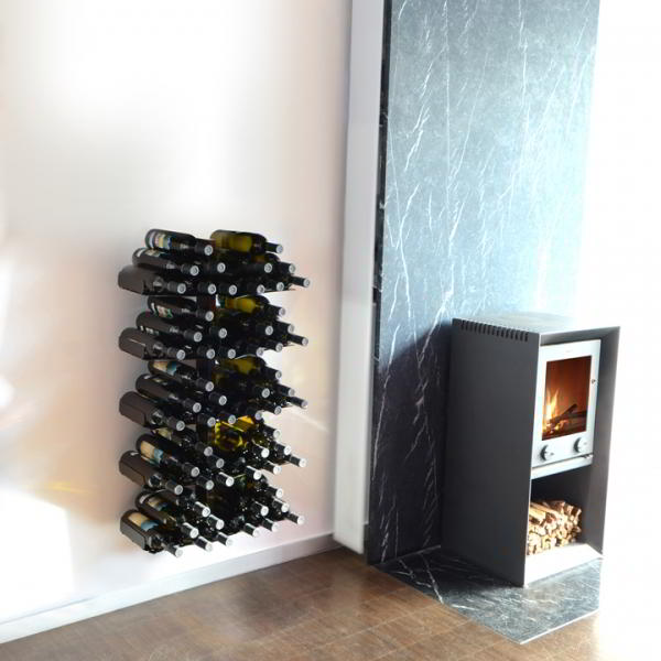 WINE TREE Weinregal Wandregal 90 cm, schwarz
