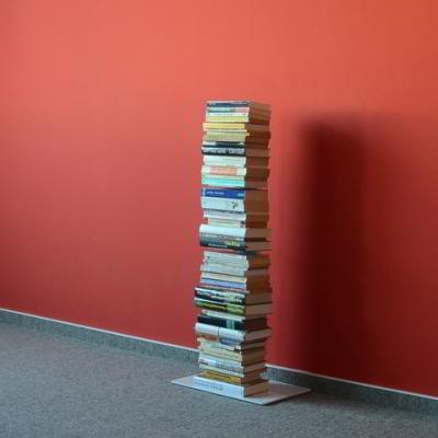 BOOKSBAUM Bücherregal Stand 2 klein weiß