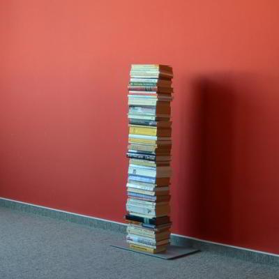 BOOKSBAUM Bücherregal Stand 2 klein silber