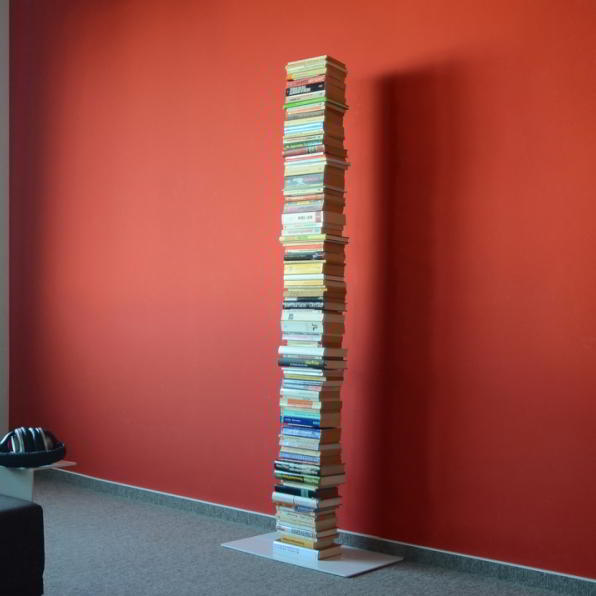 BOOKSBAUM Bücherregal Stand 2 gross weiß