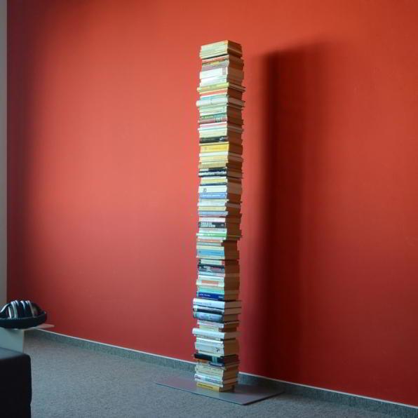BOOKSBAUM Bücherregal Stand 2 gross silber
