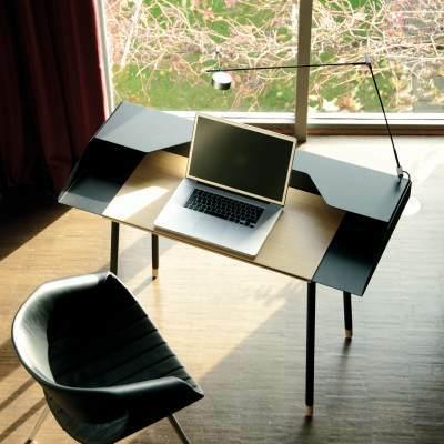 MISS MONEYPENNY Schreibtisch Stahl pulverbeschichtet schwarz