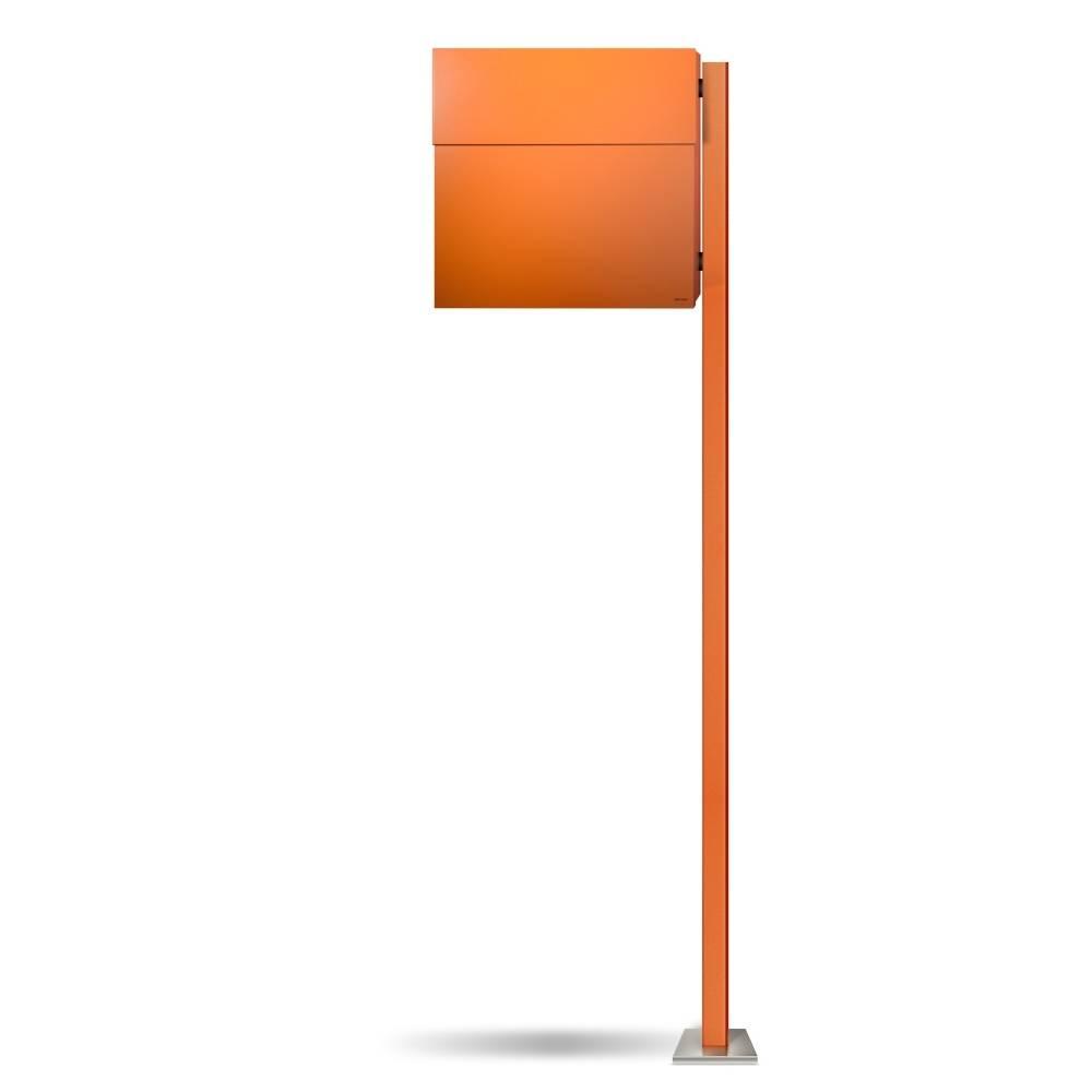LETTERMAN 4 Briefkasten mit Pfosten orange