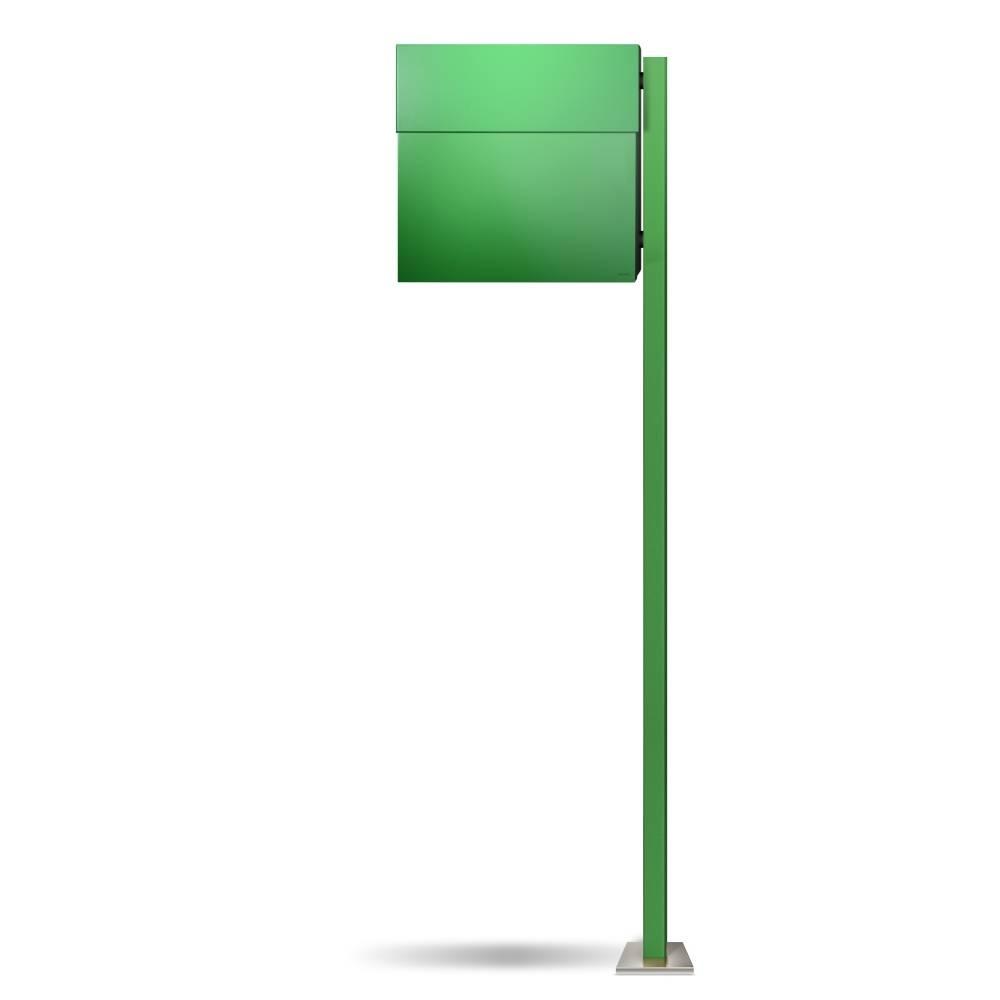 LETTERMAN 4 Briefkasten mit Pfosten grün