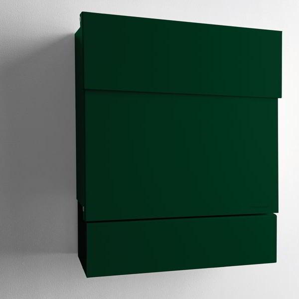 LETTERMAN V Briefkasten mit Zeitungsrolle dunkelgrün